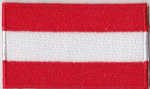 Austria Embroidered Flag Patch, style 04.